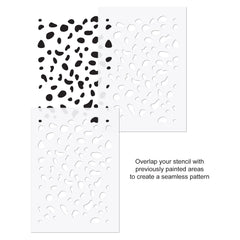 CraftStar Dalmatian Print Stencil USe Guide