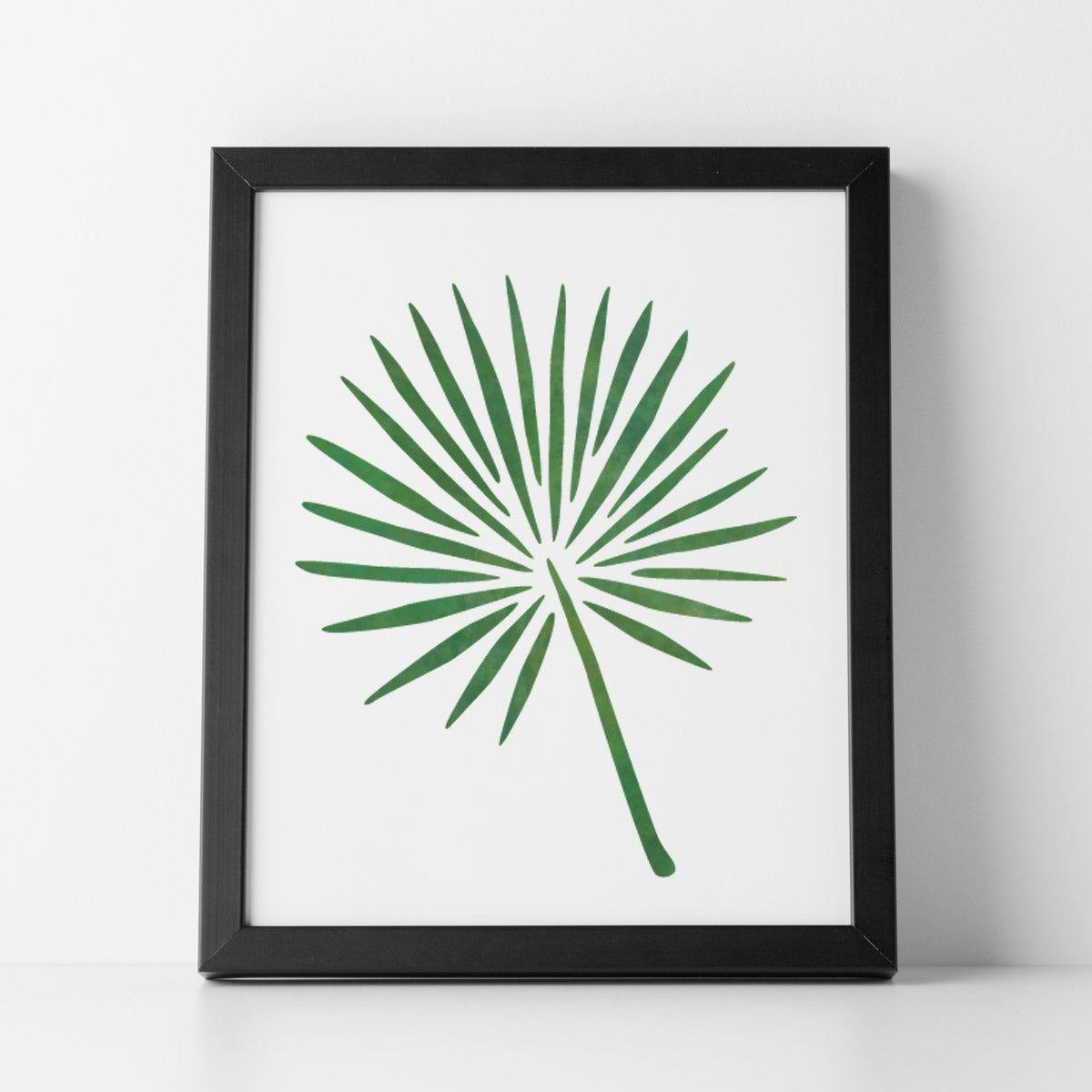CraftStar Fan Palm Leaf Stencil as a framed picture