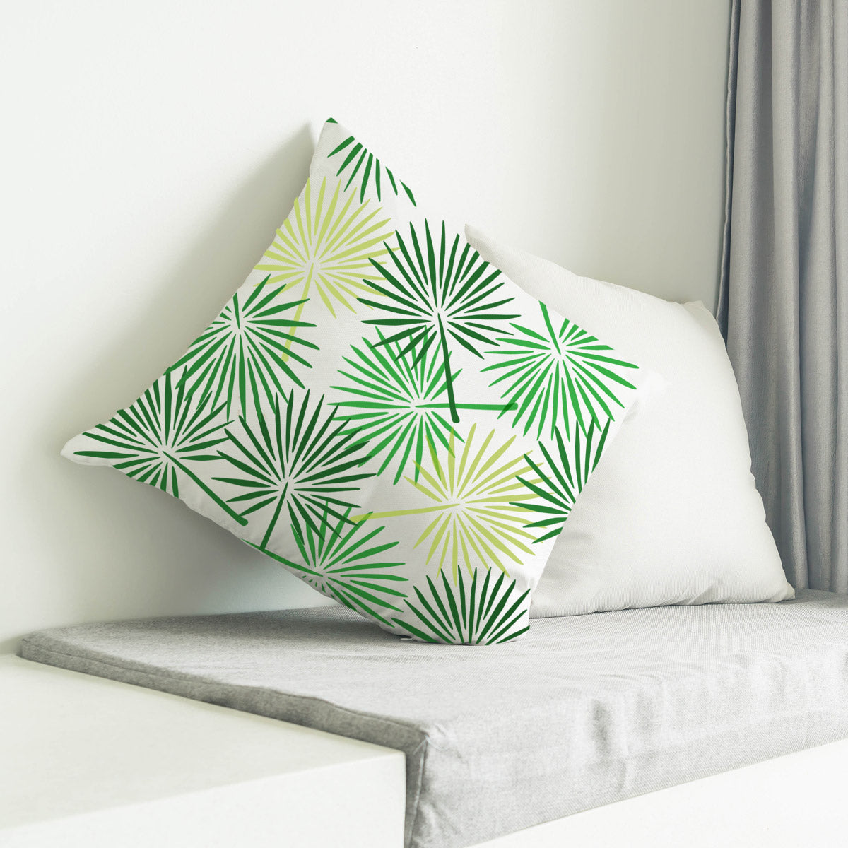 CraftStar Fan Palm Leaf Stencil on fabric