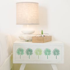 CraftStar Fan Palm Leaf Stencil on wood