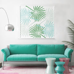 CraftStar Fan Palm Leaf Stencil framed picture