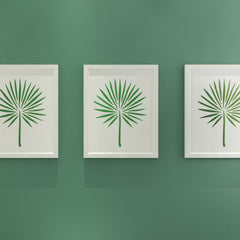CraftStar Fan Palm Leaf Stencil in frames