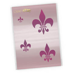 Classic Fleur De Lys Stencil Set - Craft Templates