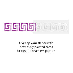 CraftStar Greek Key Border Stencil Use Guide