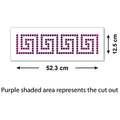 CraftStar Greek Key Border Stencil size guide