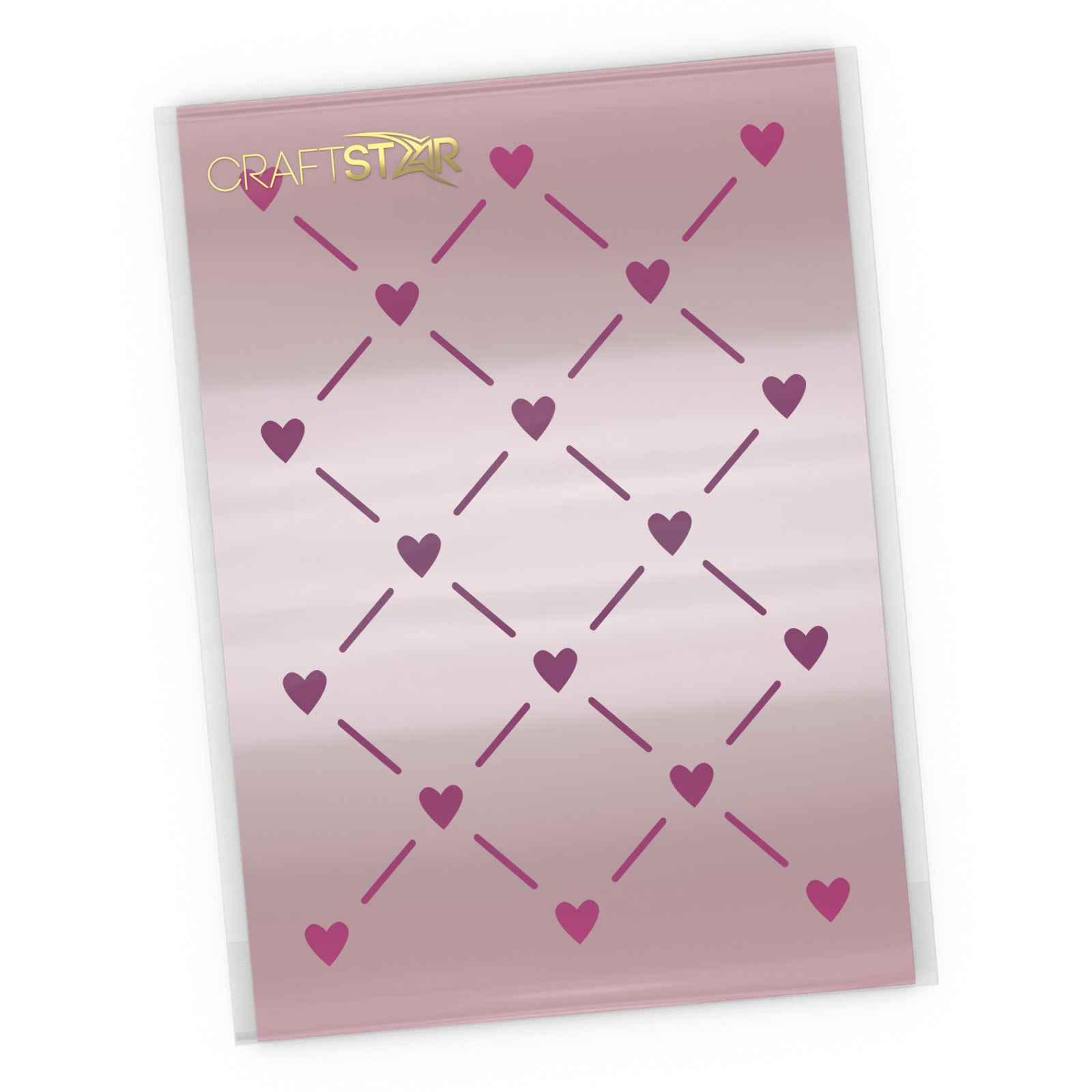 Hearts Lattice Stencil - Craft Seamless Mini Heart Pattern Template