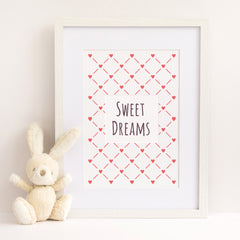 CraftStar Hearts Lattice Stencil as Framed print