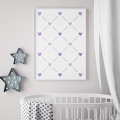 CraftStar Heart Lattice Wall Stencil in Frame