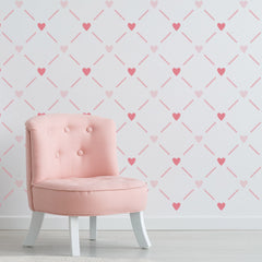 CraftStar Heart Lattice Wall Stencil