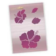 Hibiscus Flower Stencil - Tropical Flowers Craft Template