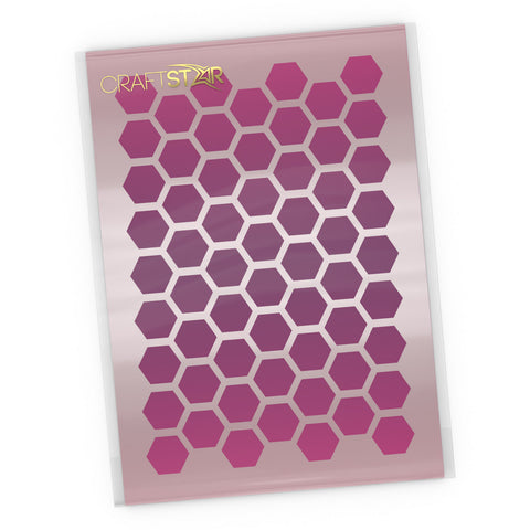 Honeycomb Background Stencil - Craft Honeycomb Pattern Template