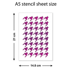 Houndstooth Stencil - Craft Template