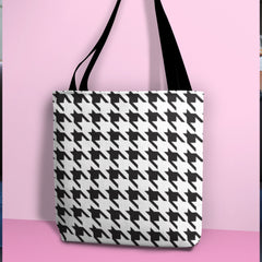 CraftStar Houndstooth Stencil on Tote Bag