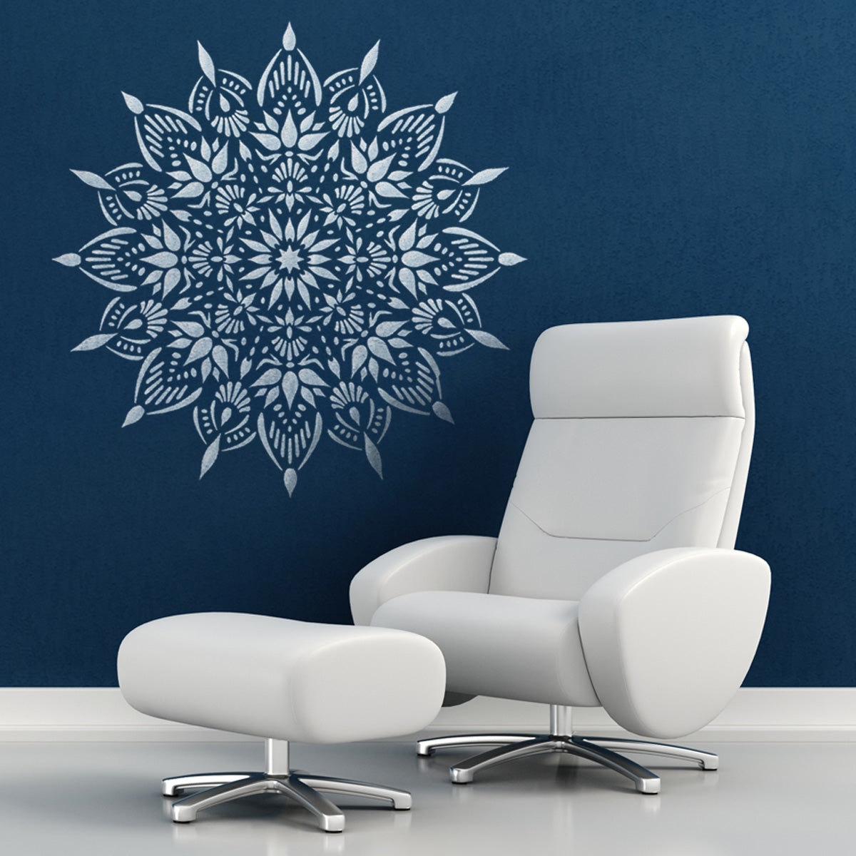 CraftStar Indu Mandala Stencil on Wall