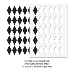 CraftStar Jester Harlequin Pattern Stencil Use Guide