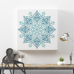 CraftStar Joy Mandala Stencil on Canvas
