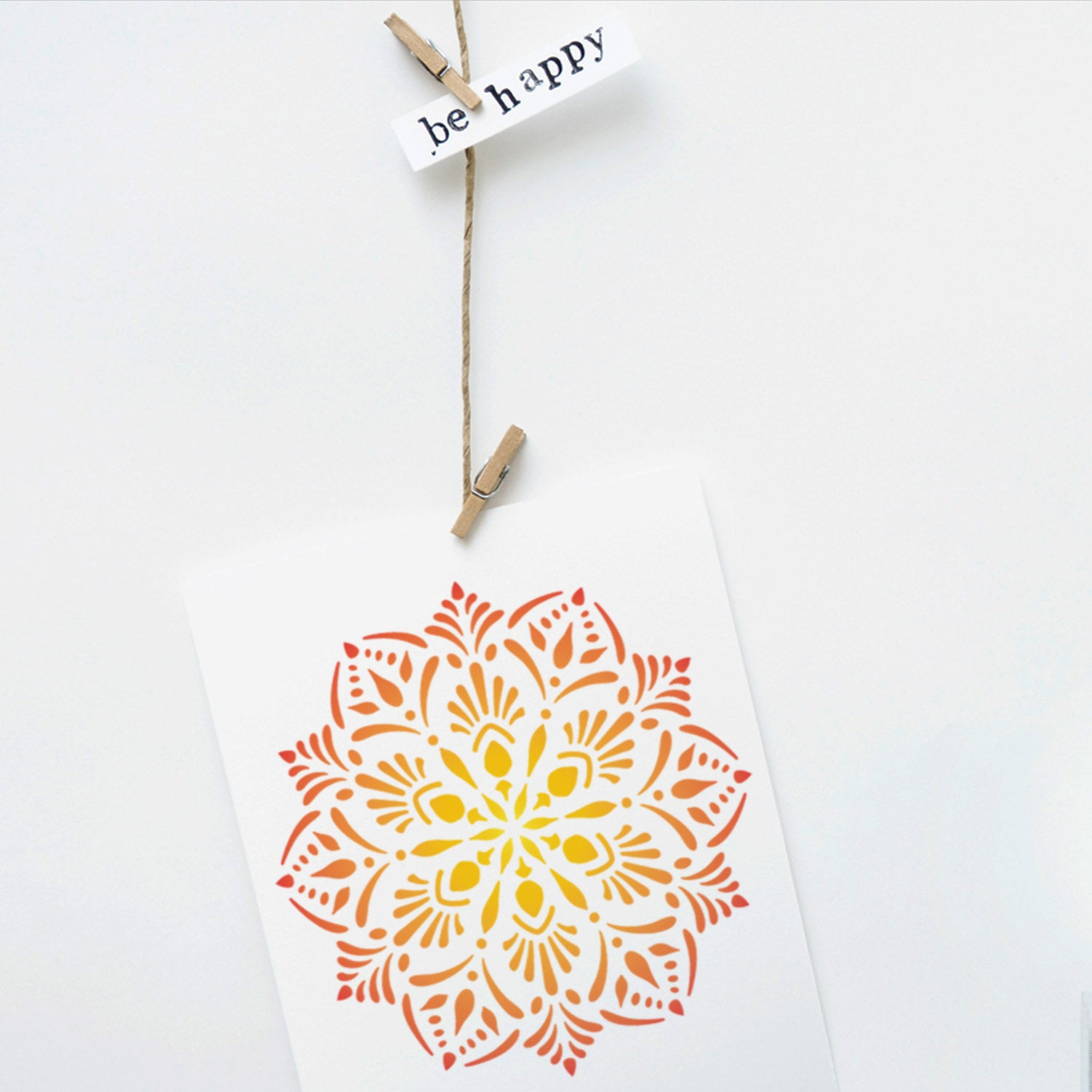CraftStar Laghu Mandala Stencil on card