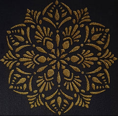 CraftStar Laghu Mandala Stencil Embossed in Gold
