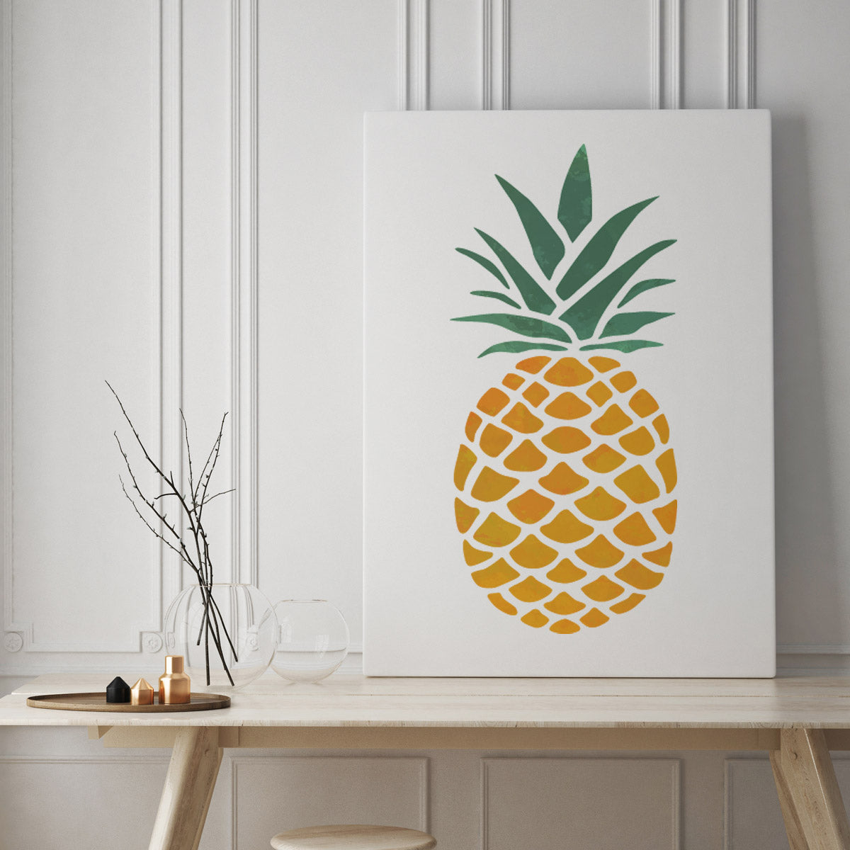 CraftStar Large Pineapple Stencil on canvas