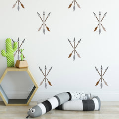 Craftstar Teepee Stencil Set Crossed Arrows on Wall