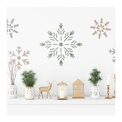 CraftStar Large Snowflake Stencil on Wall