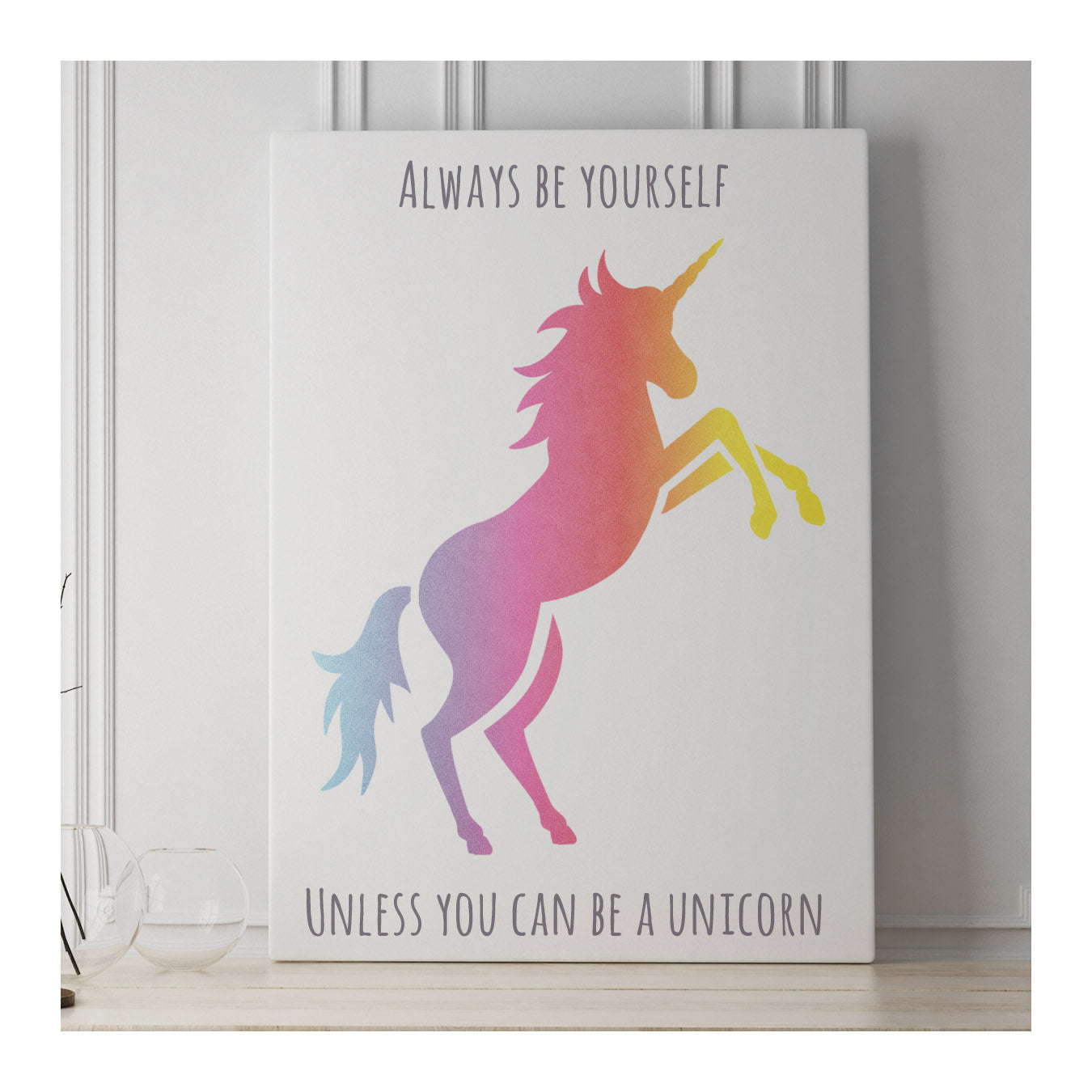 CraftStar Large Unicorn Stencil as a Canvas Print