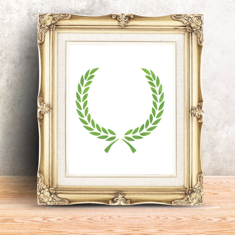 CraftStar Laurel Wreath Stencil in frame