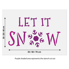 CraftStar Large Let It Snow Stencil Size Guide