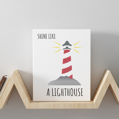 CraftStar Lighthouse Stencil on Canvas
