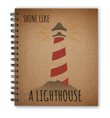 CraftStar Lighthouse Stencil on Notebook