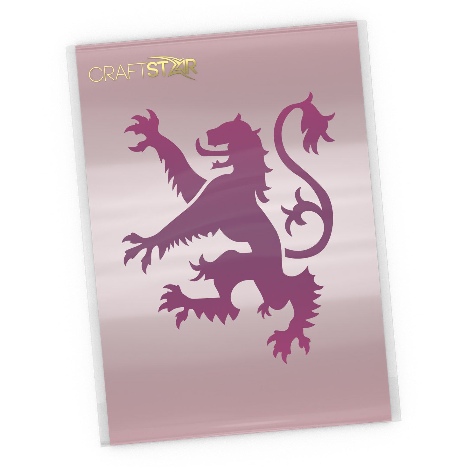 Lion Rampant Stencil - Craft Template