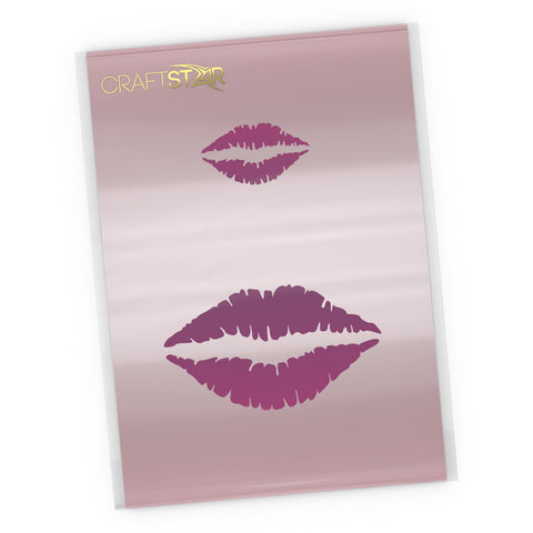 Lip Print Stencil - Small Craft Template