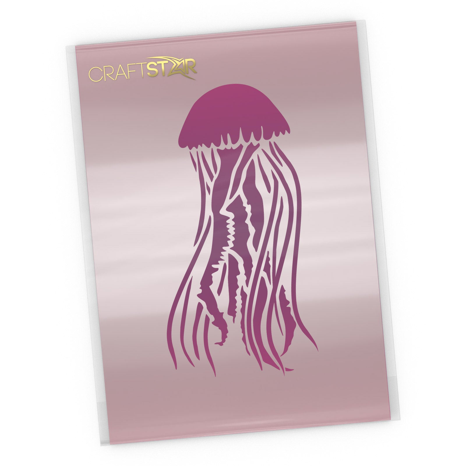 Mauve Stinger Jellyfish Stencil - Craft Template