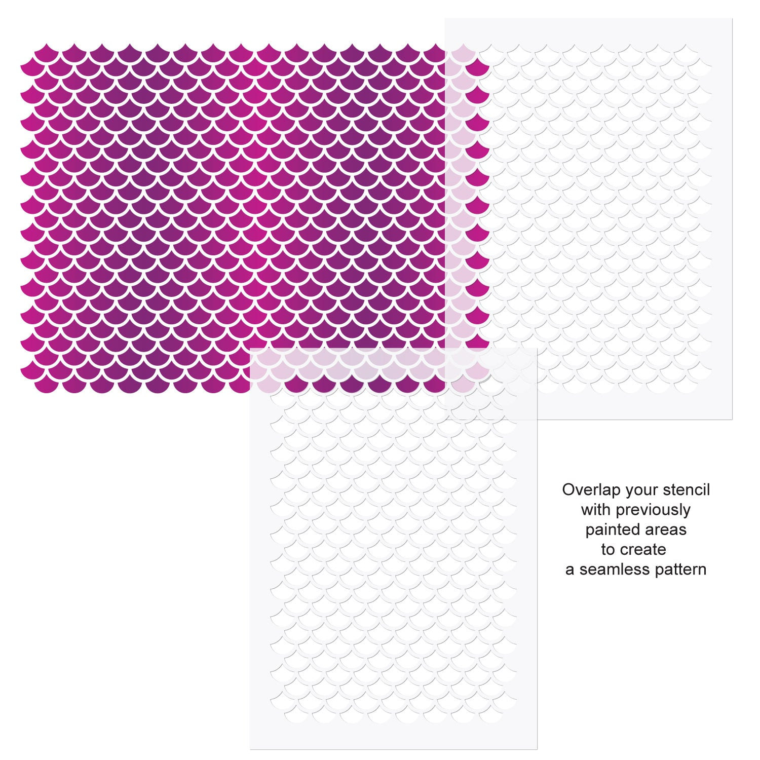 CraftStar Mermaid Scales Wall Stencil Use Guide