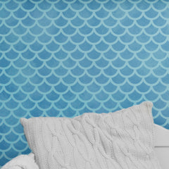 CraftStar Mermaid Scales Wall Stencil