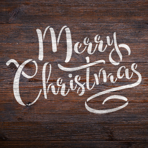 CraftStar Merry Christmas Text Stencil on Wood