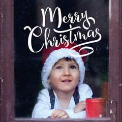 Merry Christmas Text Stencil - CraftStar