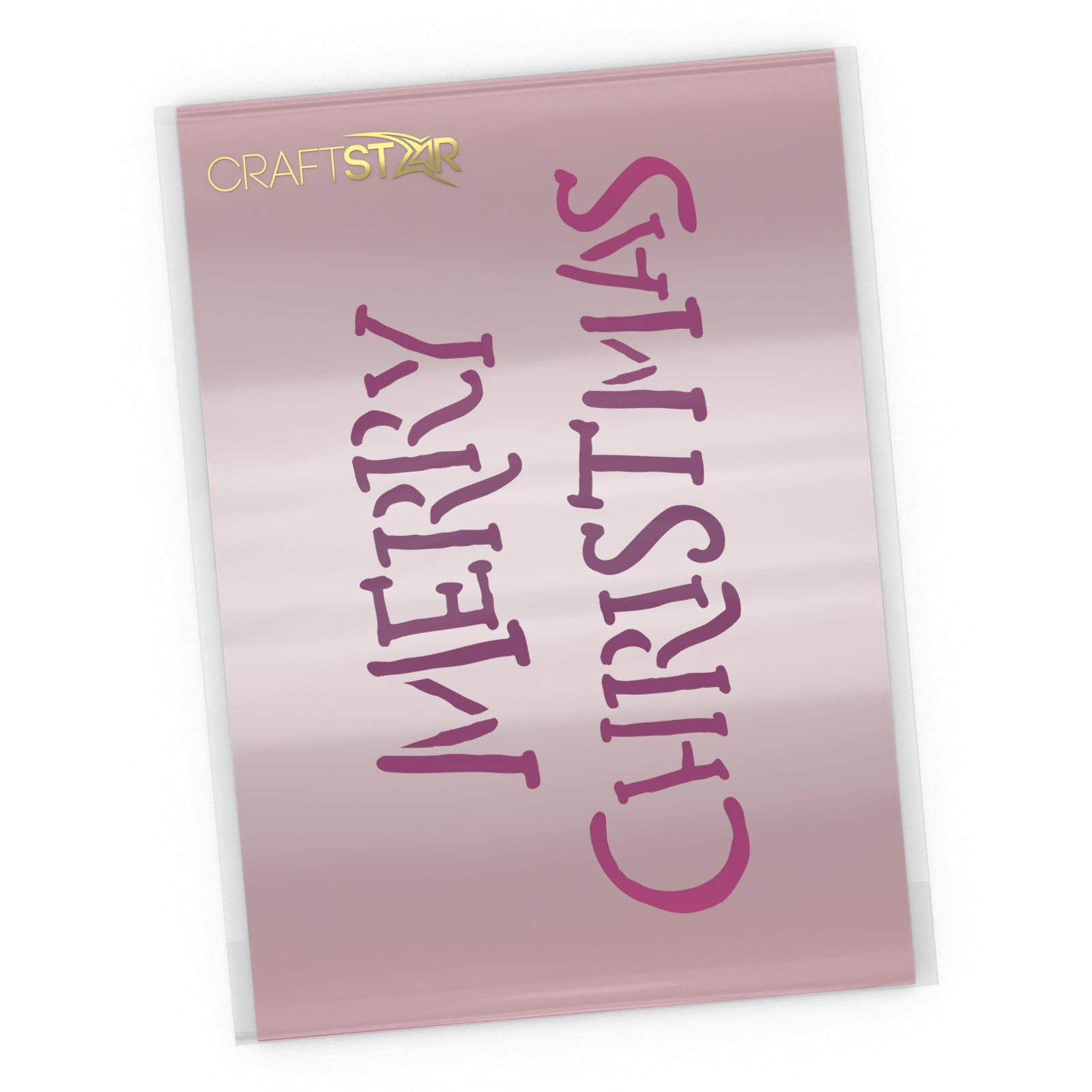 Merry Christmas Stencil - Hand Written Style - Christmas Craft Template