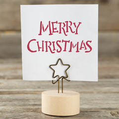 Merry Christmas Stencil - Hand Written Style Table Decoration
