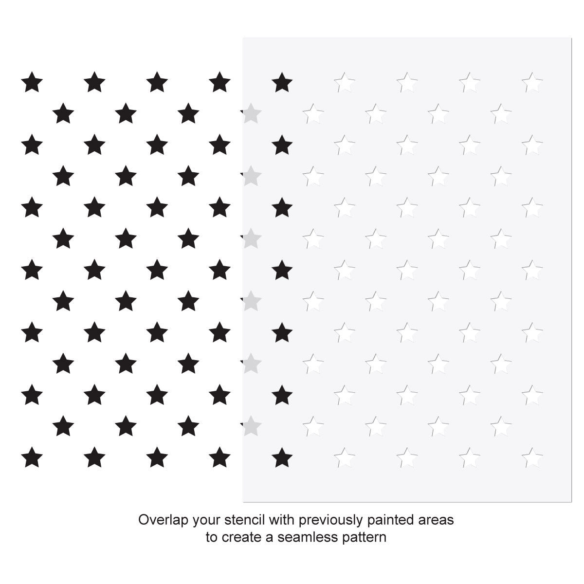 CraftStar Mini Stars Stencil Use Guide
