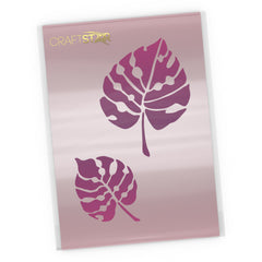 Monstera Tropical Leaf Stencil Set - Craft Template