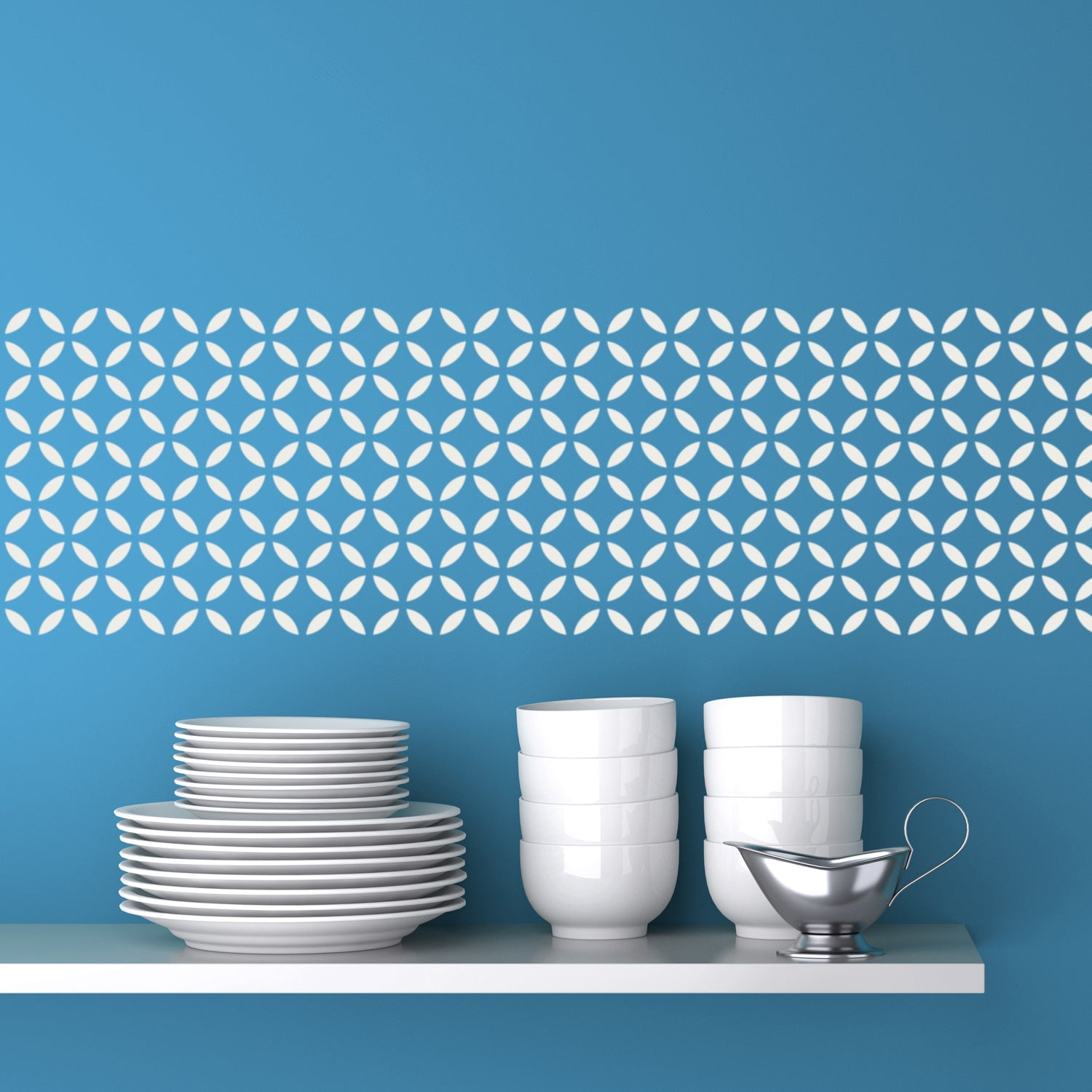 CraftStar Moorish Lattice Pattern Stencil on wall