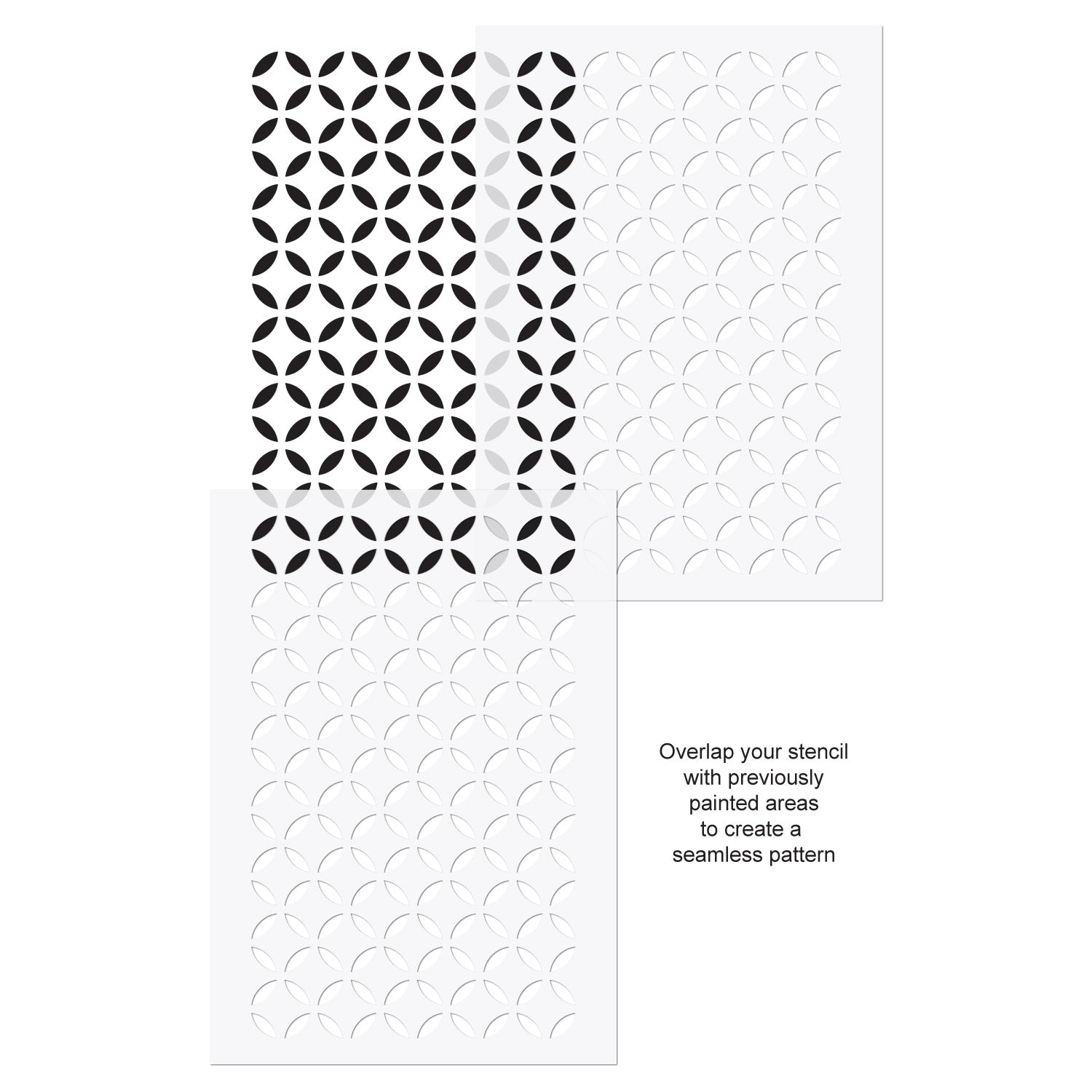CraftStar Moroccan Lattice Stencil use guide