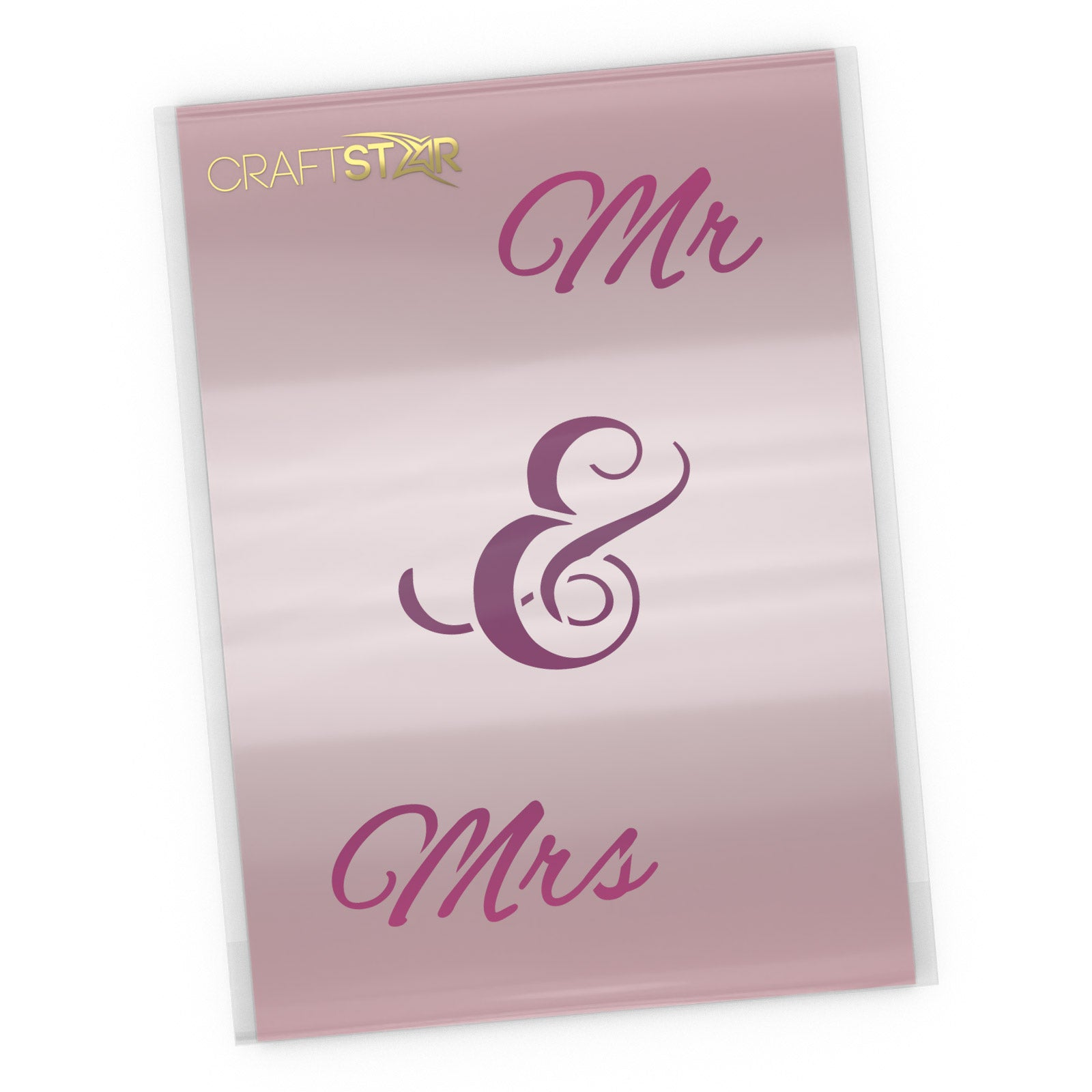 Mr & Mrs Script Style Stencil - Wedding Stencil Craft Template