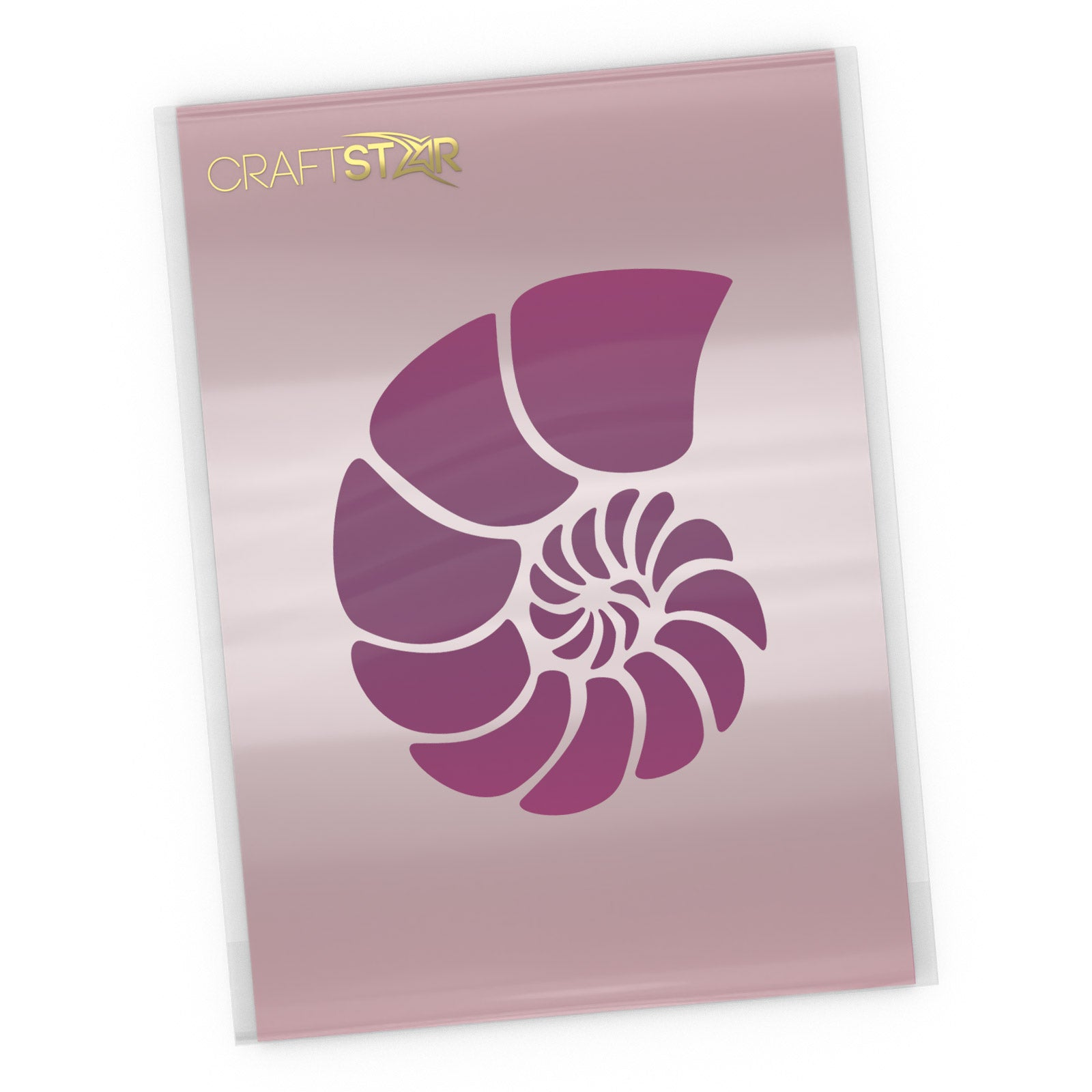 Nautilus Shell Stencil - Craft Template
