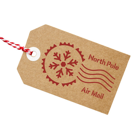 CraftStar North Pole Postmark Stencil on Gift Tag