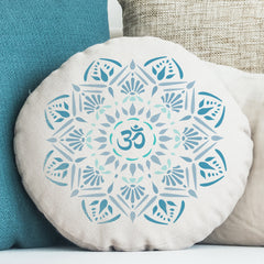 CraftStar Om Mandala Stencil on fabric