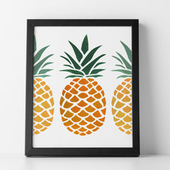 CraftStar Pineapple Stencil in a frame