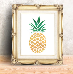 CraftStar Pineapple Stencil Picture