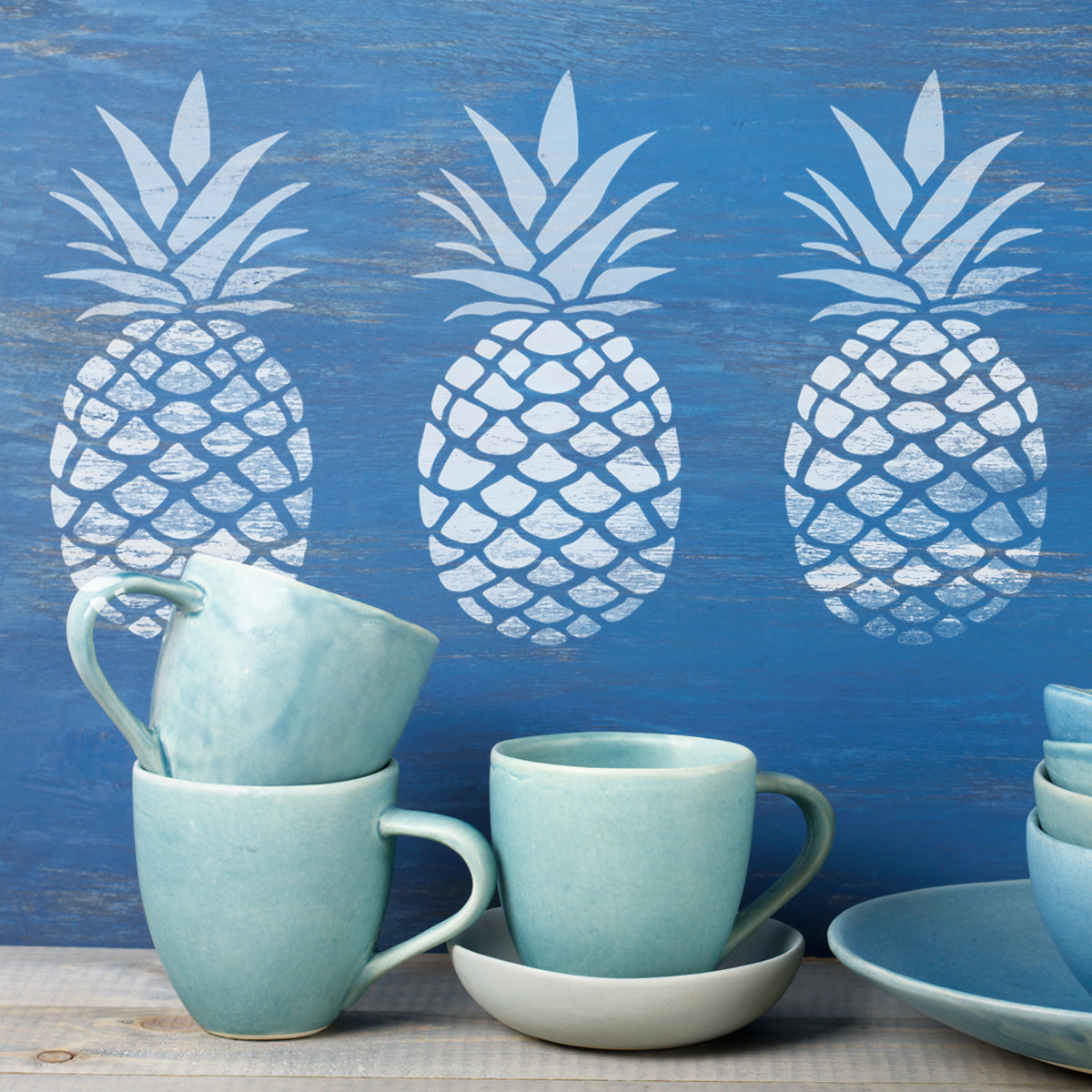 CraftStar Pineapple Stencil in White